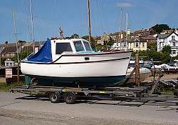 A Colvic 20 fishing boat safely delivered to Newhaven,Sussex from Porthmadog,Wales