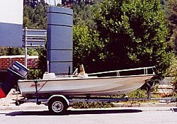 A Boston Whaler bought at a bargain price in the south of France and delivered to Devon, UK