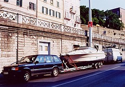 ...and safely delivered to its owner in Ancona, Italy for them to take by ferry to Greece.