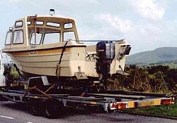 Shearwater, a Shetland 600 on route, through Scotland to Aberdeen, for onward transmission to the Orkney Islands, having been bought, via the...