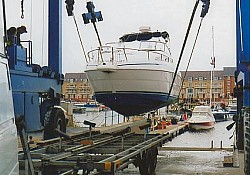 And arrives safely,on time, for lifting in the fantastic new marina at Eastbourne
