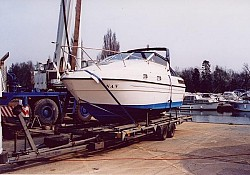 NAV a 23 ft Falcon collected in Shepperton Marina, West London...