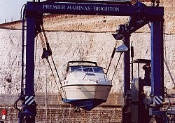 ... and safely transported to the smart, modern, Brighton Marina