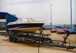 We collected this sports boat out of the water on a local slipway onto its own trailer and because of the poor condition of the tyres etc , we...